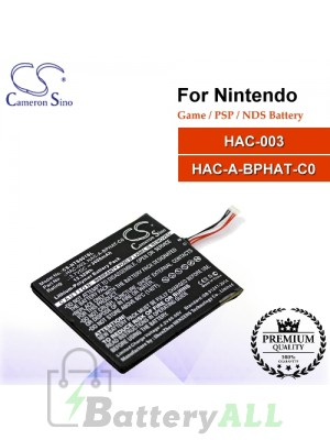 CS-NTS001SL For Nintendo Game PSP NDS Battery Model HAC-003 / HAC-A-BPHAT-C0