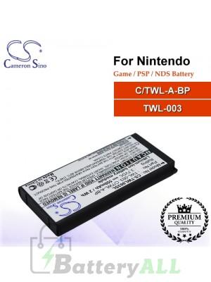 CS-TWL003SL For Nintendo Game PSP NDS Battery Model C/TWL-A-BP / TWL-003
