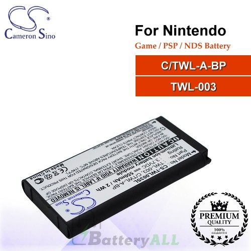 CS-TWL003SL For Nintendo Game PSP NDS Battery Model C/TWL-A-BP / TWL-003