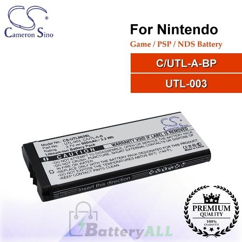 CS-UTL003SL For Nintendo Game PSP NDS Battery Model C/UTL-A-BP / UTL-003