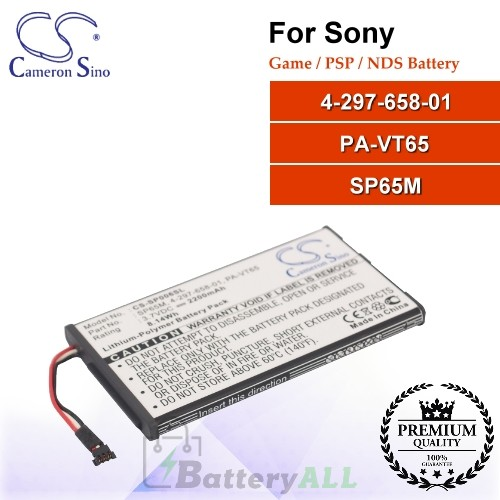 CS-SP006SL For Sony Game PSP NDS Battery Model 4-297-658-01 / PA-VT65 / SP65M