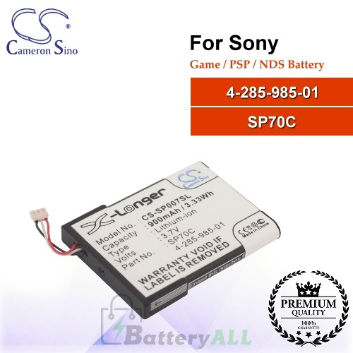CS-SP007SL For Sony Game PSP NDS Battery Model 4-285-985-01 / SP70C