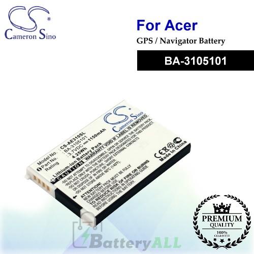 CS-AE310SL For Acer GPS Battery Model BA-3105101