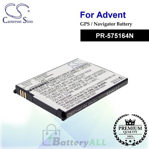 CS-ADV350SL For Advent GPS Battery Model PR-575164N
