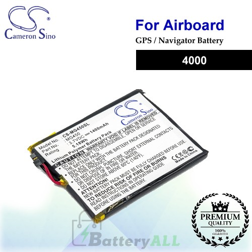 CS-MG450SL For Airboard GPS Battery Fit Model 4000