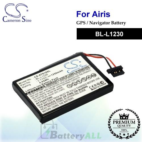 CS-AT610SL For Airis GPS Battery Model BL-L1230