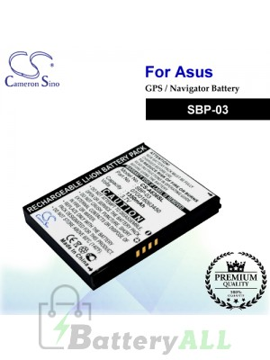 CS-A636SL For Asus GPS Battery Model SBP-03