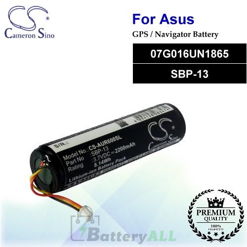 CS-AUR600SL For Asus GPS Battery Model 07G016UN1865 / SBP-13