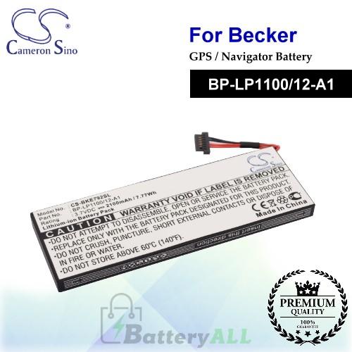 CS-BKE792SL For Becker GPS Battery Model BP-LP1100/12-A1