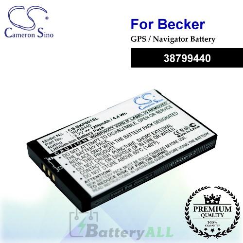 CS-BKP001SL For Becker GPS Battery Model 38799440