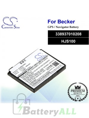 CS-BKS100SL For Becker GPS Battery Model 338937010208 / HJS100