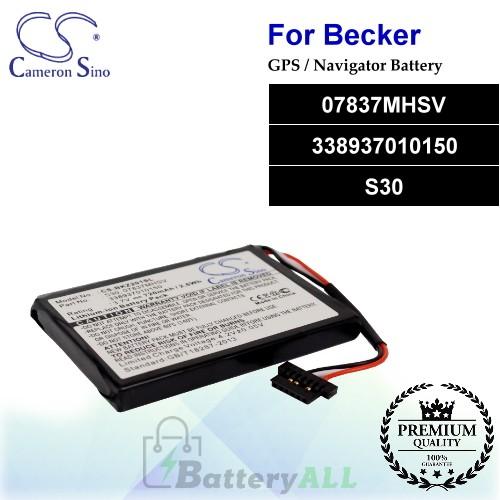 CS-BKZ201SL For Becker GPS Battery Model 07837MHSV / 338937010150 / S30