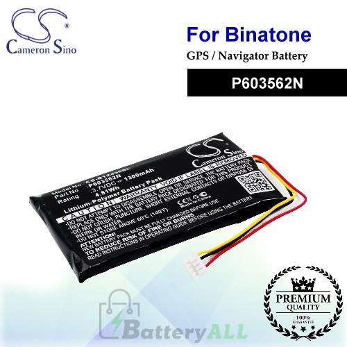 CS-BTZ430SL For Binatone GPS Battery Model P603562N