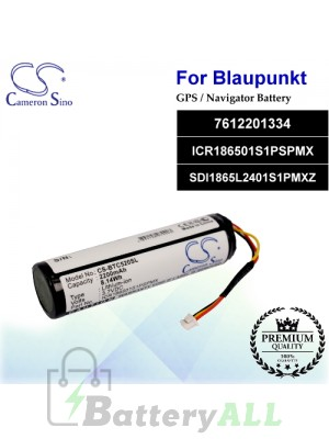 CS-BTC520SL For Blaupunkt GPS Battery Model 7612201334 / ICR186501S1PSPMX / SDI1865L2401S1PMXZ