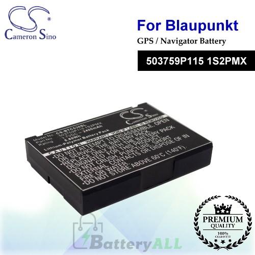 CS-BTC530SL For Blaupunkt GPS Battery Model 503759P115 1S2PMX