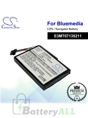 CS-BM6300SL For BlueMedia GPS Battery Model E3MT07135211