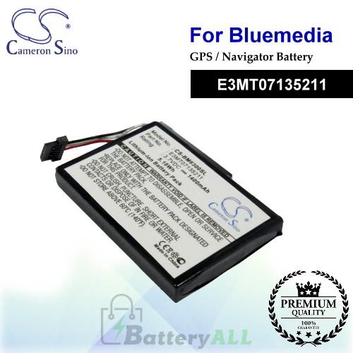 CS-BM6300SL For BlueMedia GPS Battery Model E3MT07135211