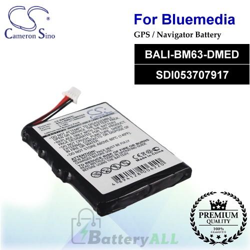 CS-BM6380SL For BlueMedia GPS Battery Model BALI-BM63-DMED / SDI053707917