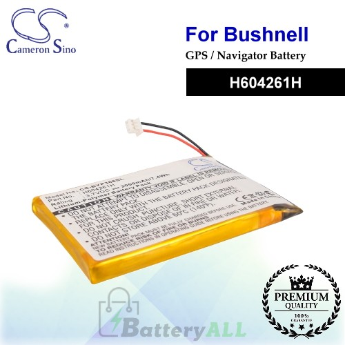 CS-BYP368SL For Bushnell GPS Battery Model H604261H