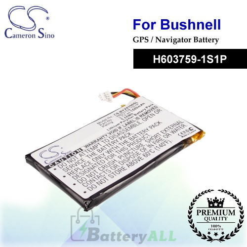 CS-BYX8350SL For Bushnell GPS Battery Model H603759-1S1P