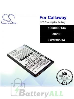 CS-SUP01SL For Callaway GPS Battery Model 1008000134 / 30200 / GPS305CA