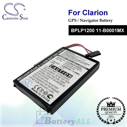 CS-MIOC220SL For CLARION GPS Battery Model BPLP1200 11-B0001MX