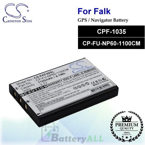 CS-FKF40SL For Falk GPS Battery Model CPF-1035 / CP-FU-NP60-1100CM