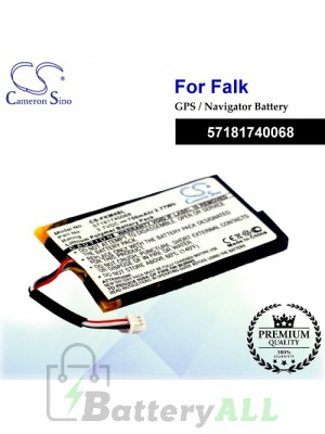 CS-FKM4SL For Falk GPS Battery Model 57181740068