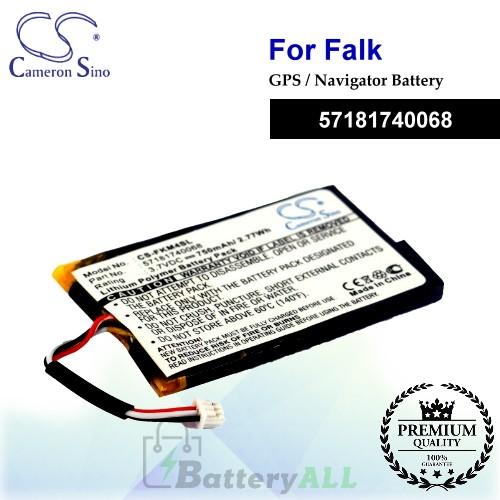 CS-FKM4SL For Falk GPS Battery Model 57181740068