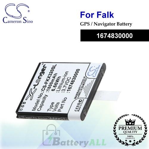 CS-FKX320SL For Falk GPS Battery Model 1674830000