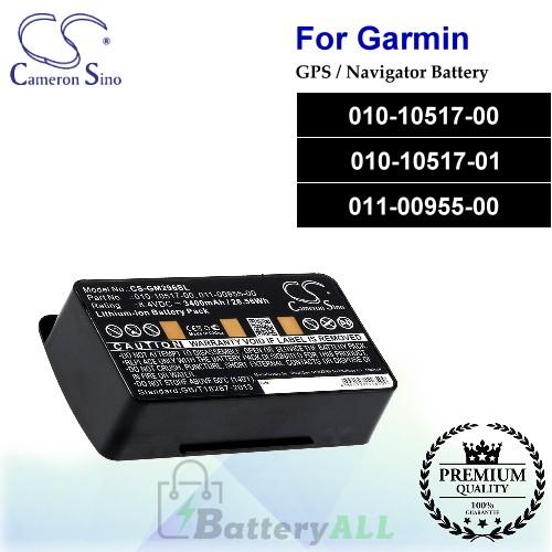 CS-GM296SL For Garmin GPS Battery Model 010-10517-00 / 010-10517-01 / 011-00955-00