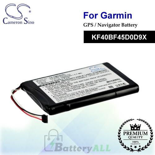 CS-GMG60SL For Garmin GPS Battery Model KF40BF45D0D9X