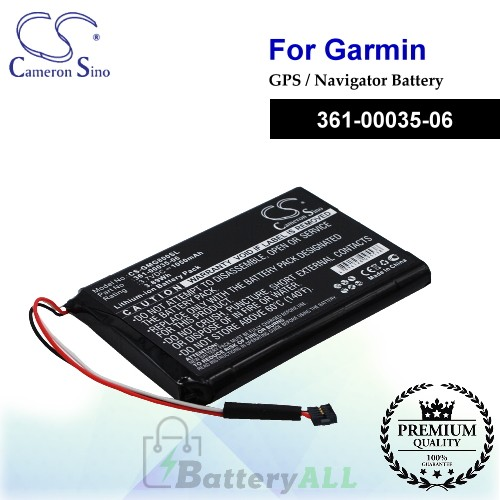 CS-GMG800SL For Garmin GPS Battery Model 361-00035-06