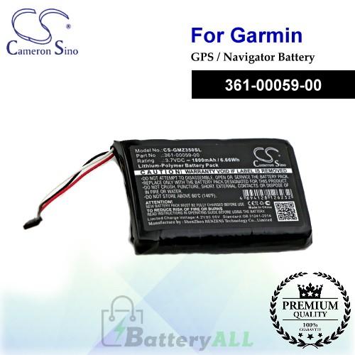CS-GMZ350SL For Garmin GPS Battery Model 361-00059-00