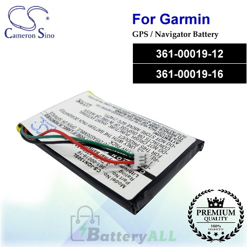 CS-IQN130SL For Garmin GPS Battery Model 361-00019-12 / 361-00019-16