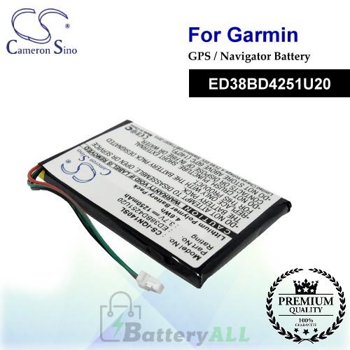 CS-IQN140SL For Garmin GPS Battery Model ED38BD4251U20
