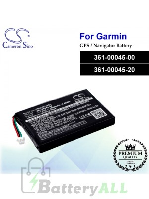 CS-IQN149SL For Garmin GPS Battery Model 361-00045-00 / 361-00045-20