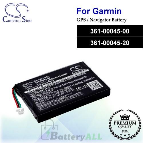 CS-IQN149SL For Garmin GPS Battery Model 361-00045-00 / 361-00045-20
