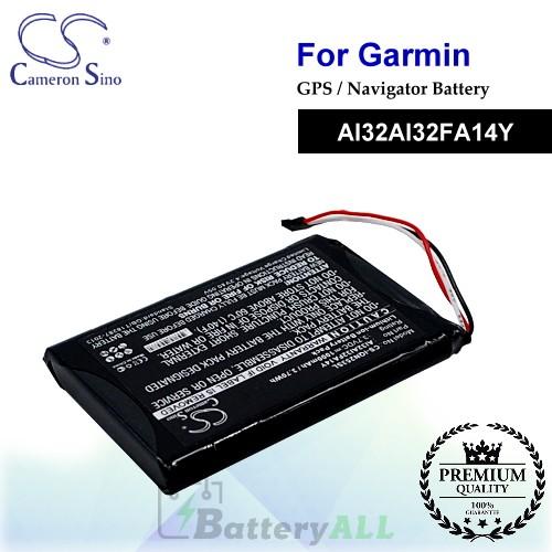 CS-IQN253SL For Garmin GPS Battery Model AI32AI32FA14Y