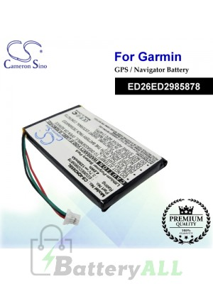 CS-IQN285SL For Garmin GPS Battery Model ED26ED2985878