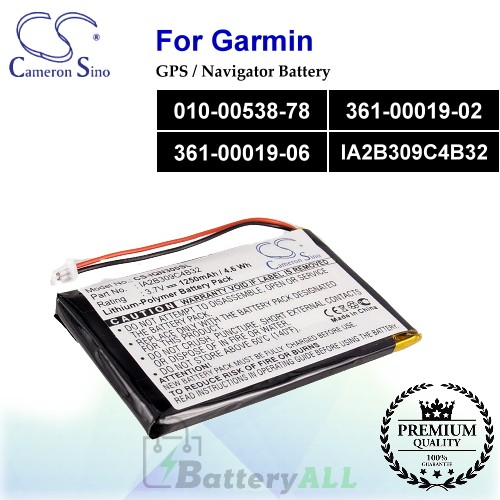 CS-IQN300SL For Garmin GPS Battery Model 010-00538-78 / 361-00019-02 / 361-00019-06 / IA2B309C4B32