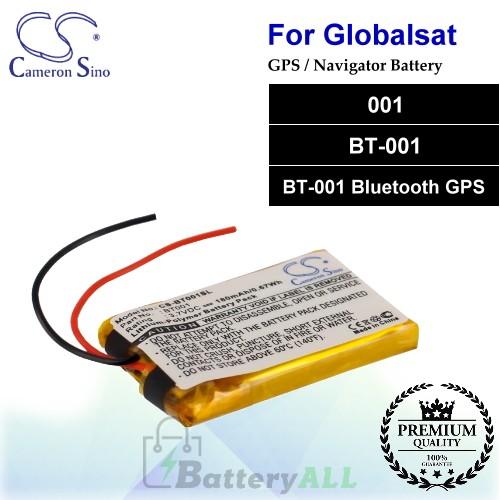 CS-BT001SL For Globalsat GPS Battery Fit Model 001 / BT-001 / BT-001 Bluetooth GPS