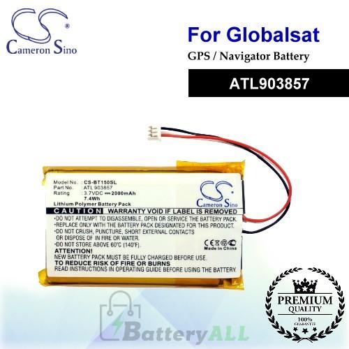 CS-BT150SL For Globalsat GPS Battery Model ATL903857