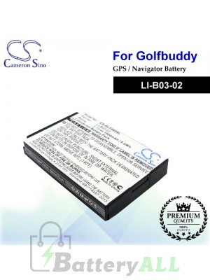 CS-GLF002SL For Golf Buddy GPS Battery Model LI-B03-02