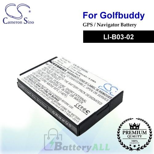 CS-GLF002SL For Golf Buddy GPS Battery Model LI-B03-02