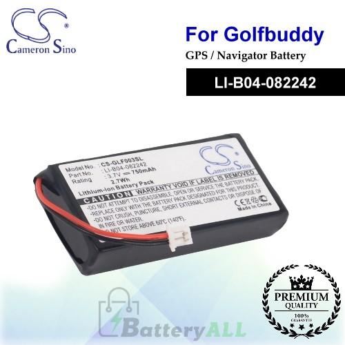 CS-GLF003SL For Golf Buddy GPS Battery Model LI-B04-082242