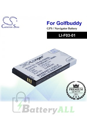 CS-GLF600SL For Golf Buddy GPS Battery Model LI-F03-01