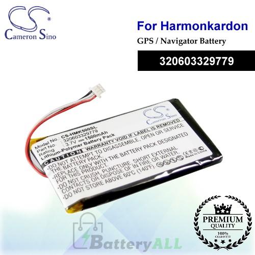 CS-HMK500SL For Harmon Kardon GPS Battery Fit Model GPS-500