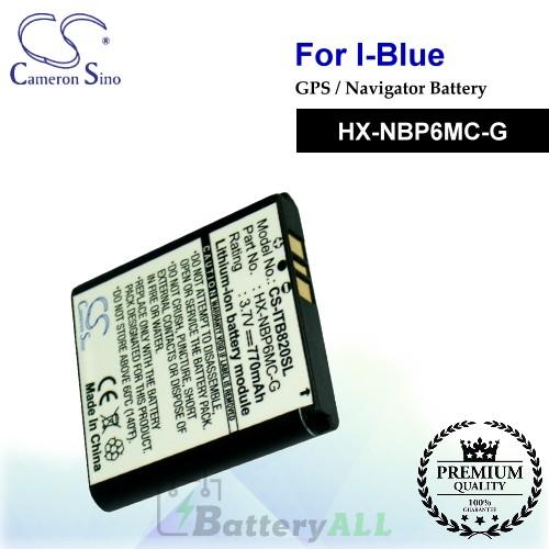CS-ITB820SL For i-Blue GPS Battery Model HX-NBP6MC-G