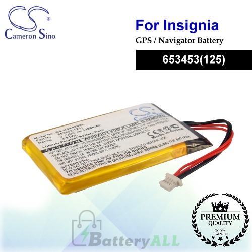 CS-NSV430SL For Insignia GPS Battery Fit Model NS-NCV43